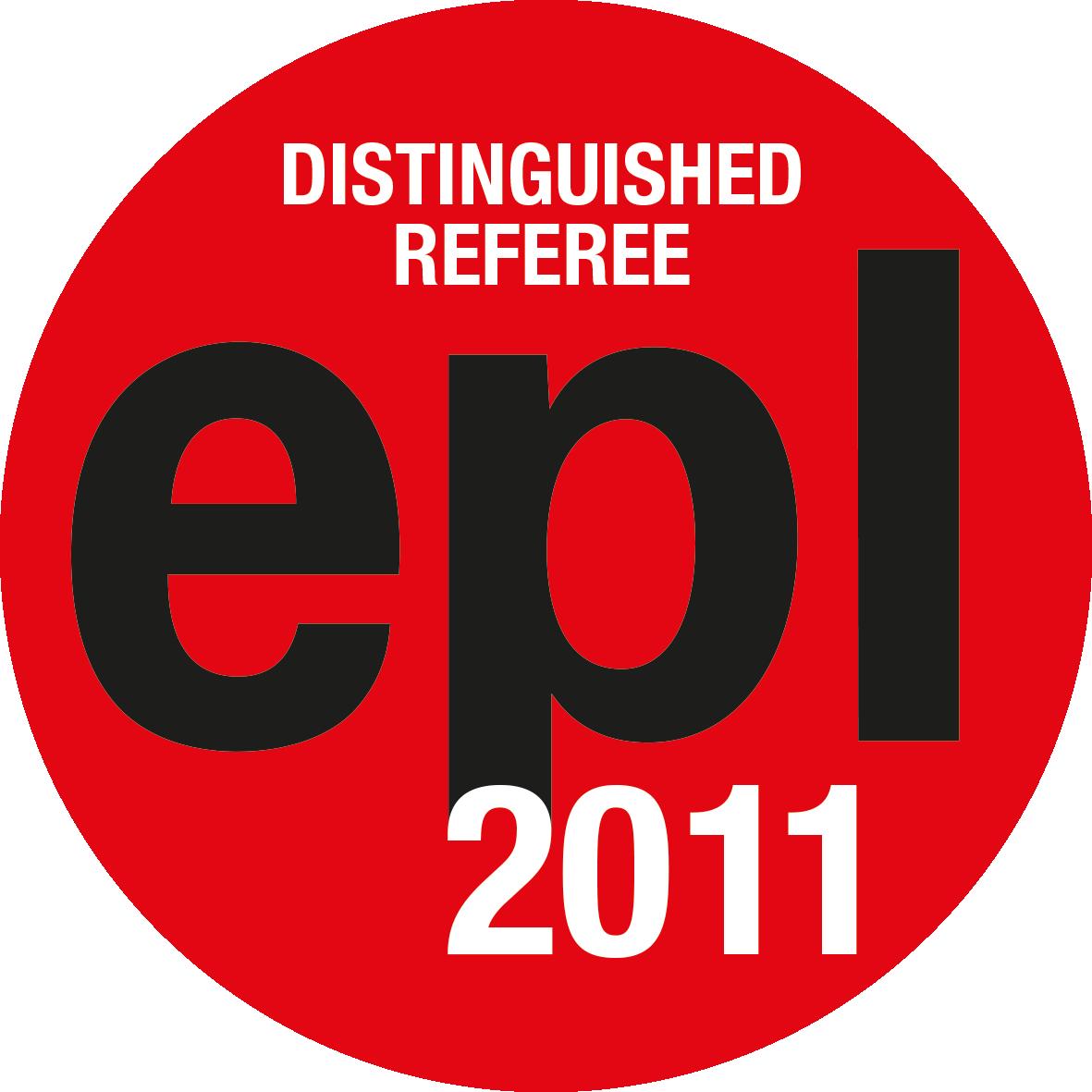 EPL Distinguished Referees 2011