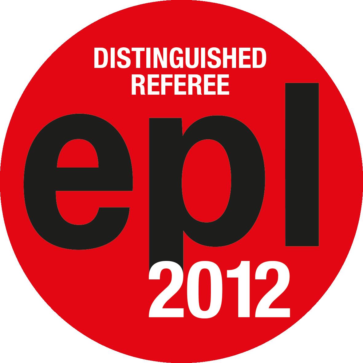 EPL Distinguished Referees 2012